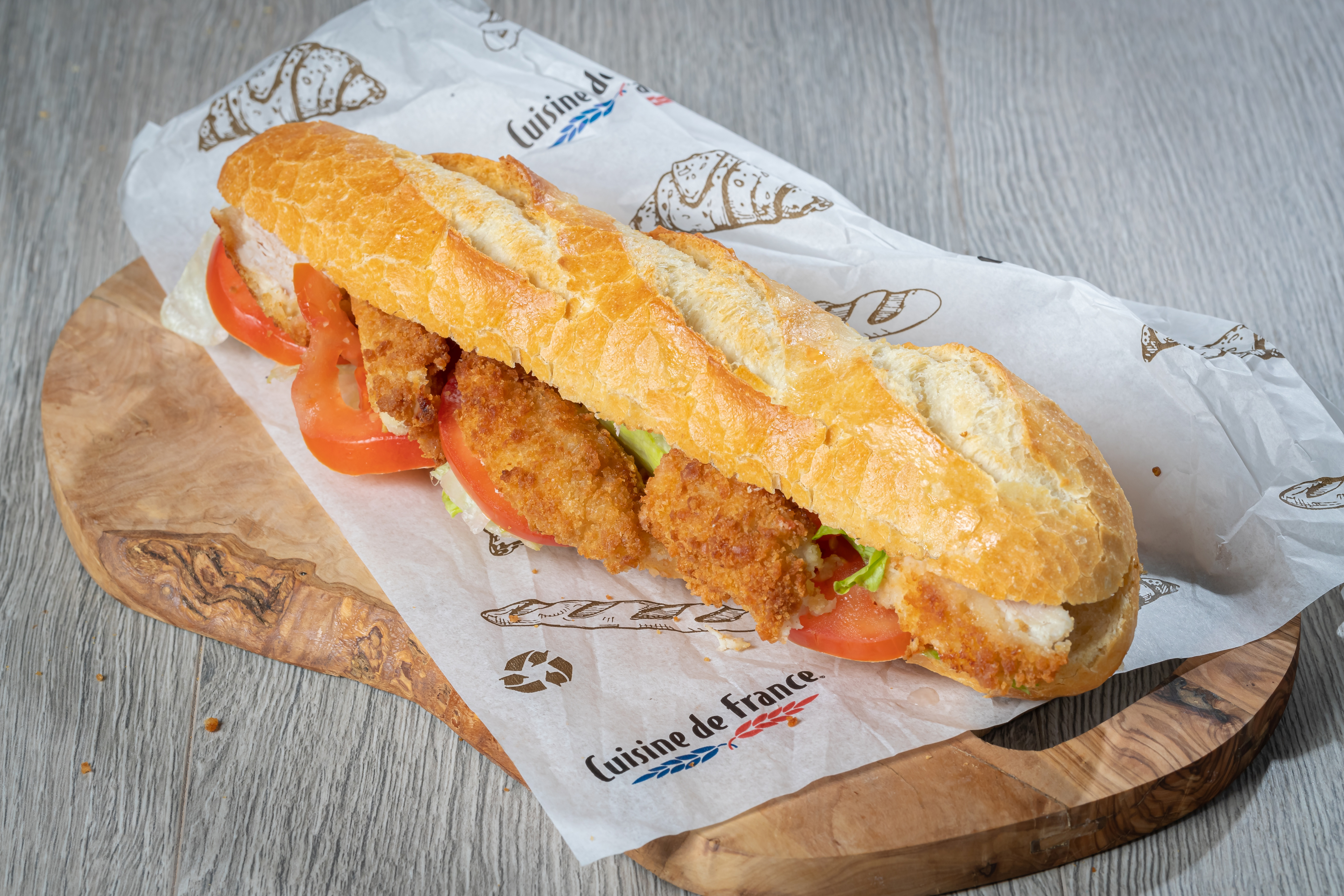 The Le Demi, a popular french baguette with Deli's